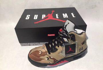 価格決定?Retail Price for the Supreme x Air Jordan 5 Collection