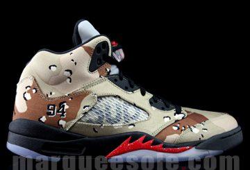 """Another Look at the Supreme x Air Jordan 5 """"Camo"""""""