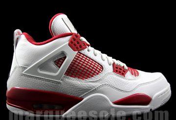 "来年発売! Air Jordan 4 ""Alternate '89"" (エアジョーダン4)White/Black-Gym Red 308497-104"