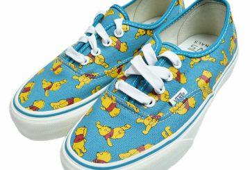秋のディズニーコレクション!VANS VAULT x Disney OG Authentic LX Pooh VN-0UDD8QR バンズ ディズニー コラボ オーセンティック スニーカー 靴 ブルー くま プーさん キャンバス 限定 ボルトライン