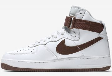 "Nike Air Force 1 High Retro QS ""Chocolate"" Summit White/Chocolate 743546-102(エアフォース1)"