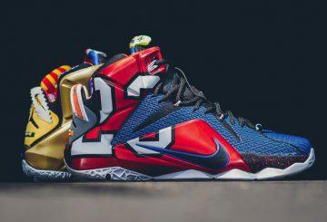 """国内9月26日発売! Nike LeBron 12 """"What The"""" ~ LEBRON XII SE MULTI-COLOR/PHANTOM-MTLC CACAO  802193-909 ナイキ レブロン12 SE マルチカラー/ファントム/メタリック カカオ"""