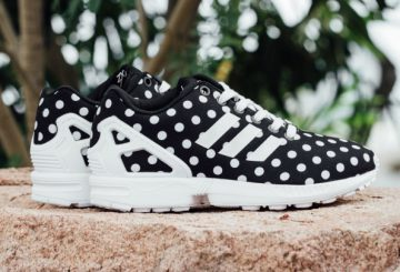 "水玉★Adidas Originals Women's ZX Flux – Core Black/White  ""Polka Dot"""
