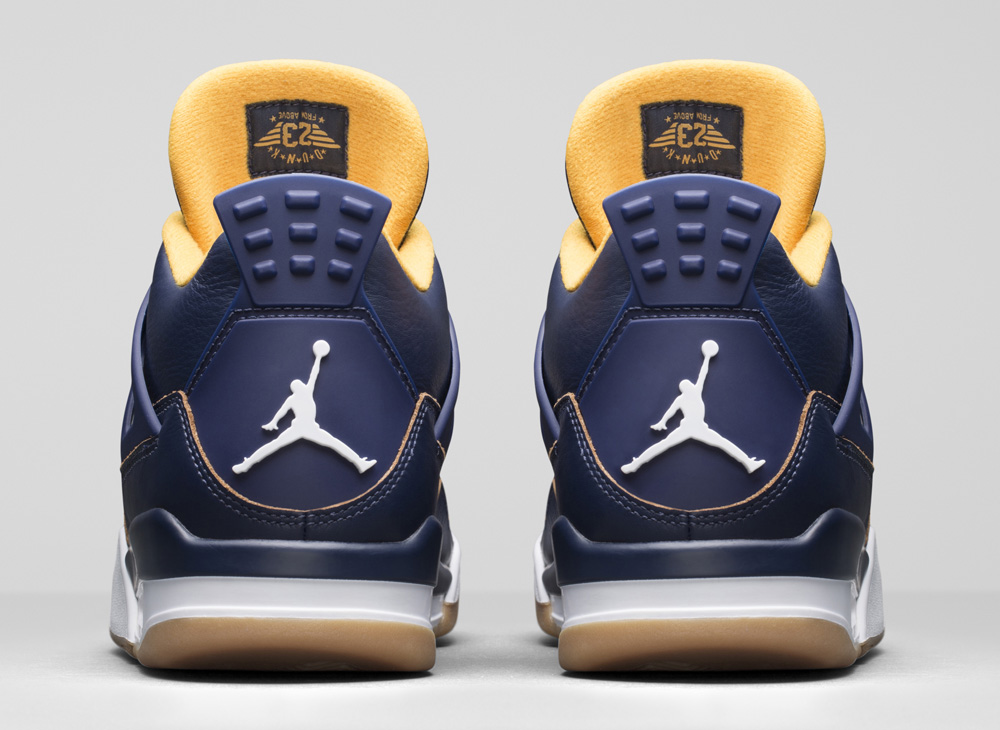 air-jordan-4-navy-gold-dunk-from-above-3