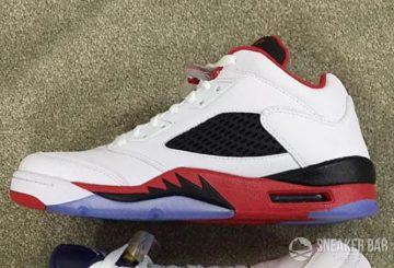 """リーク★3月発売予定!NIKE Air Jordan 5 Low ( 819171-101) """"Fire Red""""【ナイキ エアジョーダン5】"""