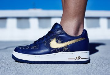 ★MY COLLECTION 過去の名作★Nike WMNS Air Force 1 Low Navy/Gold【ナイキ エアフォース1】