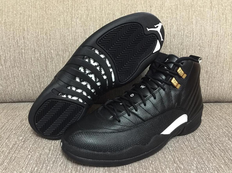 Nike Mens Air Jordan 12 Retro Black  White-Metallic Gold 130690-013 Xmas 92d5212c9