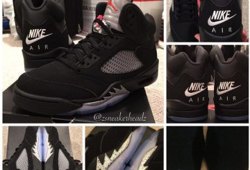 """NEW画像★Nike Air Jordan 5 """"Black Metallic""""【ナイキ エアジョーダン 5 ブラックメタリック】"""