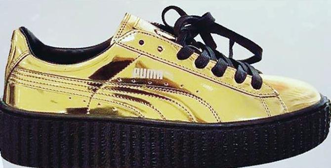 rihanna-puma-creeper-gold