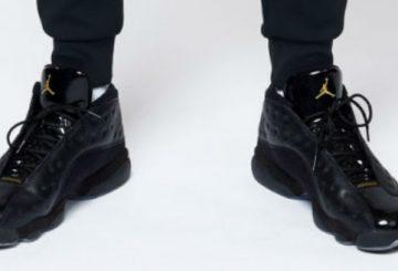 sample? Kawhi Leonard PE ?  nike Air Jordan 13 Low  Black Gold Patent Leather  【サンプル? クワイ レナード PE エアジョーダン13 low】