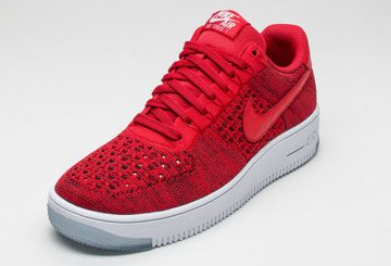 """Nike Air Force 1 Low Flyknit """"University Red"""" 817419-600 【ナイキ フライニット エアフォース1】"""
