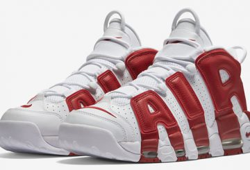 2016夏発売予定★Nike Air More Uptempo White/Varsity Red 414962-100