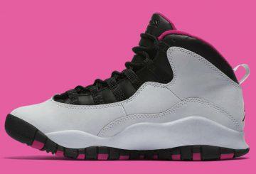 5月14日発売予定★レディース・キッズ★NIKE Air Jordan 10 GS Pure Platinum/Black-Vivid Pink 487211-008  【ナイキ エアジョーダン10】