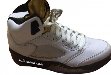 "リーク★8月13日発売★NIKE  Air Jordan 5 ""Olympic"" White/Black-Metallic Gold Coin 136027-133 【ナイキ エアジョーダン5】"