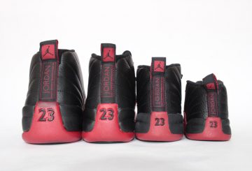 "MOVIE★ ファミリーサイズで展開★国内5月28日発売★NIKE  Air Jordan 12 ""Flu Game"" Black/Varsity Red 130690-002 【ナイキ エアジョーダン12 】"
