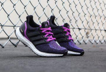 海外展開中★レディース★ adidas WMNS Ultra Boost Black/Core Black-Shock Purple AQ5935 【アディダス ウルトラブースト】