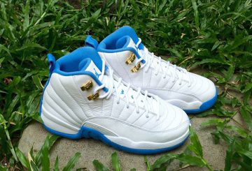 "レディース★5月21日発売★NIKE AIR JORDAN 12 GG ""MELO""  White/Metallic Gold-University Blue  510815-127 【ナイキ エアジョーダン12)"