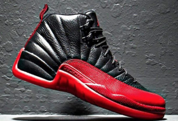 "CLOSER LOOK★5月28日発売予定★NIKE Air Jordan 12 ""Flu Game"" Black/Varsity Red 130690-002"