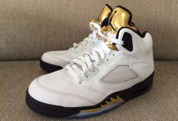 """検索リンク追記★8月20日発売★ NIKE Air Jordan 5 """"Olympic"""" White/Black-Metallic Gold Coin 136027-133 【ナイキ エアジョーダン5 """"オリンピック""""】"""