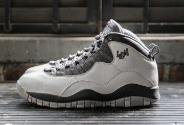 """6月18日発売★NIKE Air Jordan 10 """"London"""" Pure Platinum/Metallic Gold-Dark Grey 310805-004  【ナイキ エアジョーダン10 ロンドン】"""