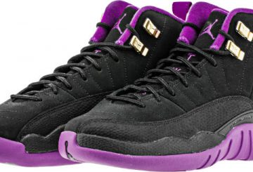 MOVIE★レディース★ 6月18日発売★ NIKE AIR JORDAN 12 GS BLACK/METALLIC GOLD STAR-HYPER VIOLET 510815-018​ 【ナイキ エアジョーダン12 GS)