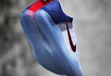 "検索リンク追記★ MOVIE★7月2日発売★ Nike Kobe 11 Elite Low ""4th of July"" White/University Red-Deep Royal Blue-Metallic Silver 822675-184 【ナイキ コービー11"