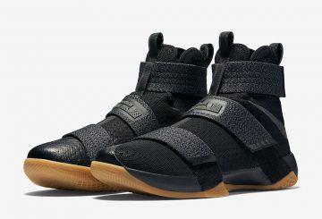 Nike Zoom LeBron Soldier 10 SFG Black/Multi Color-Dark Grey-Gum Yellow 844378-009 【ナイキ ズーム レブロン 10 ソルジャー】