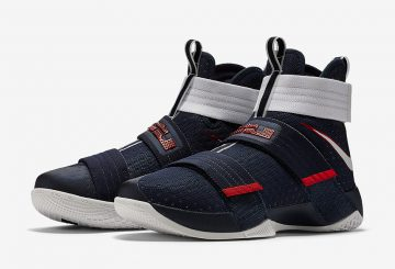 "7月4日発売★ Nike LeBron Soldier 10 ""USA"" Obsidian/White-University Red 844379-416 【ナイキ レブロン ソルジャー 10 】"