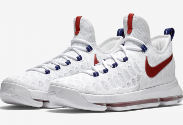 "7月2日発売★ Nike KD 9 ""USA"" White/University Red-Race Blue 843392-160 【ナイキ KD9】"