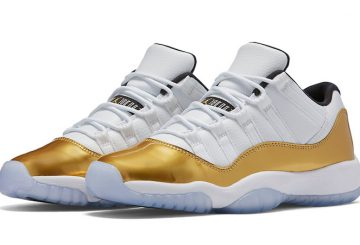 "着用画像追記★8月27日発売★NIKE Air Jordan 11 Low ""Closing Ceremony"" White/Metallic Gold Coin-Black 528896-103"