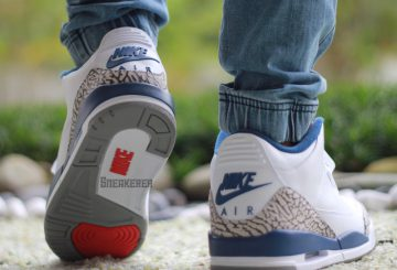 "着用画像追記★11月25日発売★ NIKE Air Jordan 3 OG ""True Blue"" White/Fire Red-True Blue-Cement Grey 854262-106 【ナイキ エアジョーダン3 OG 】"