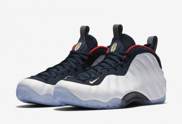 "MOVIE★ 国内 7月22日発売★ Nike Air Foamposite One PRM ""Olympic"" Obsidian/University Red-Metallic Gold-White 575420-400 【ナイキ エア フォームポジット ""オリンピック""】"