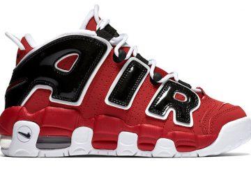 レディース★8月6日発売★ Nike Air More Uptempo GS  Varsity Red/White-Black 415082-600  【ナイキ エア モアアップテンポ】