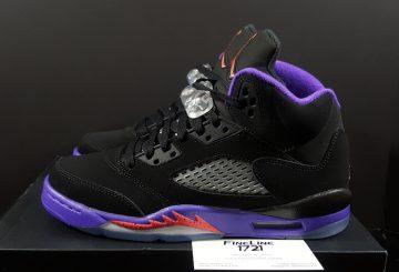 """追記★9月17日発売★ NIKE Air Jordan 5 GS """"Raptors"""" Black/Ember Glow-Fierce Purple 440893-017 【ナイキ エアジョーダン5】"""