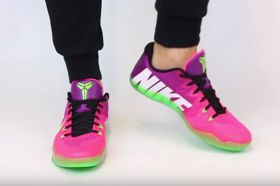 nike-kobe-11-mambacurial-pink-flash-action-green-red-plum-1