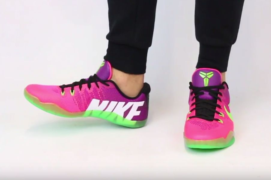 nike-kobe-11-mambacurial-pink-flash-action-green-red-plum-2
