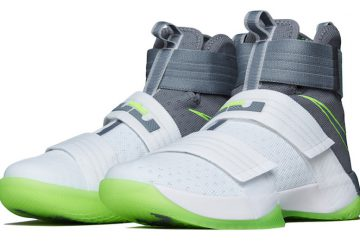"Nike 発売開始★ NIKE  Zoom LeBron Soldier 10 ""Dunkman"" White/Cool Grey-Electric Green 844378-103 【ナイキ ズーム レブロン 10 ソルジャーダンクマン】"