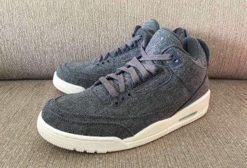 画像追記★12月17日発売★NIKE Air Jordan 3 Wool Dark Grey/Dark Grey-Sail 854263-004 【ナイキ エアジョーダン3 ウール】