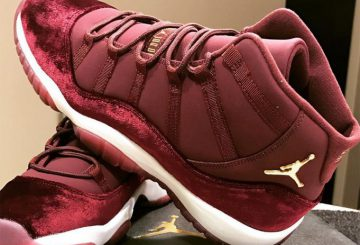 レディース★12月17日発売★ NIKE Air Jordan 11 GS Velvet Night Maroon/Metallic Gold-Night Maroon 852625-650 【ナイキ エアージョーダン 11 GS】
