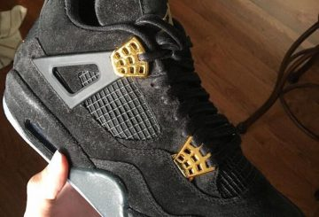 "リーク★NIKE Air Jordan 4 Black Suede  "" Glow in the Dark"" 【ナイキ エアジョーダン4 】"
