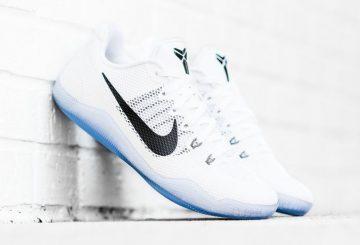 """9月24日発売予定★ Nike Kobe 11 EM Low """"Fundamental"""" White/Black-Cool Grey 836183-100 【ナイキ コービー11】"""