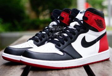 "11月5日発売★NIKE Air Jordan 1 Retro High OG ""Black Toe"" Black/White-Varsity Red 555088-125 【ナイキ エアジョーダン 1 OG】"