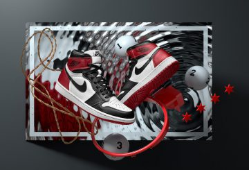 "MOVIE&公式画像★NIKE Air Jordan 1 Retro High OG ""Black Toe"" White/Black-Varsity Red 555088-125 【ナイキ エアジョーダン1 OG 】"