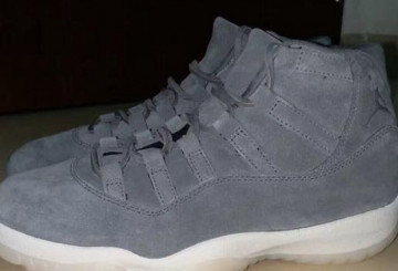 "NIKE Air Jordan 11 PRM ""Suede"" Cool Grey/Sail 914433-003 【ナイキ エアジョーダン11 PRM】"