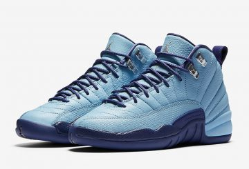 10月8日発売★ NIKE ​Air Jordan 12 GS Blue Cap/Metallic Silver-Dark Purple Dust 510815-418 【ナイキ エアージョーダン12 GS】