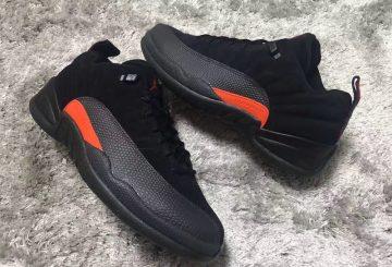 1月発売予定★ NIKE Air Jordan 12 Low Black/Max Orange-Anthracite 308317-003 【ナイキ エアジョーダン 12 LOW】