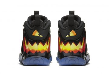 10月15日発売★Nike Little Posite One Black/Orange Blaze-White (Halloween) 846077-002 【ナイキ リトル ポジット ONE】