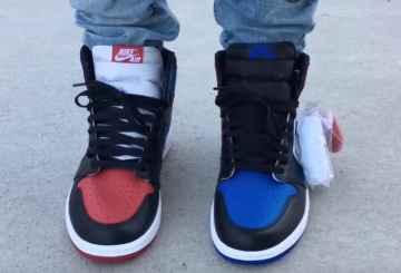 "検索リンク&発売店舗追記★MOVIE★NIKE Air Jordan 1 ""Top 3"" Black/Black-White-Varsity-Royal-Varsity Red 555088-026 【ナイキ エアジョーダン 1 OG】"
