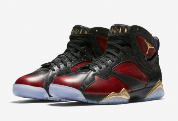 "12月17日発売★NIKE Air Jordan 7 ""Doernbecher"" Black/University Red-Metallic Gold 898651-015 【ナイキ エアジョーダン 7"