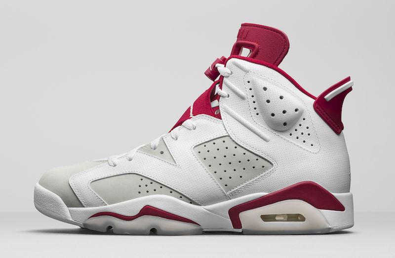 """3月11日発売☆公式画像☆NIKE Air Jordan 6 """"Alternate"""" White/Pure Platinum-Gym Red  384664-113 【ナイキ エアジョーダン6 オルタネイト】"""
